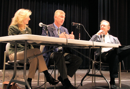 From left to right - Cathy Rutter, Walter Herd and Tom Martin