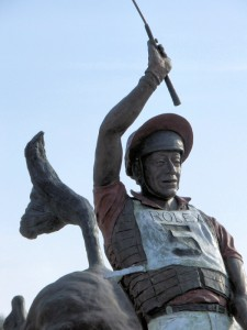 Bruce Davidson statue as you walk into the new stadium
