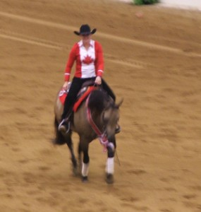 Lisa Coulter riding Hollywood Aces