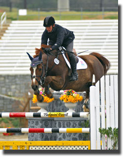 Angel Karolyi on Galant (Photo Credit:  www.horsedaily.com)