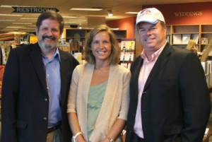Hosts Glenn the Geek and Samantha Clark with CEO of Joseph-Beth Booksellers Neil Van Uum